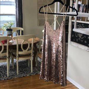 rose gold akira sequin dress SMALL